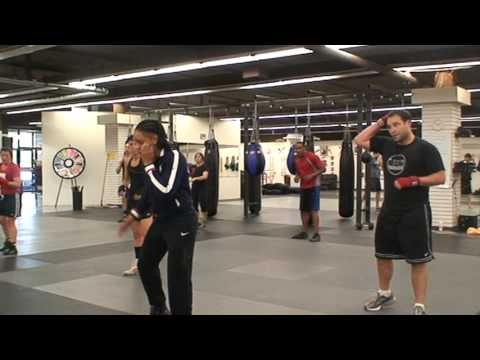 MKG Seattle Boxing Class With Olympic Boxer Queen Underwood Warm-Ups Image 1