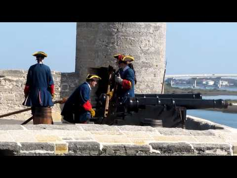 Shooting of the Canon in Fort at St. Augustine