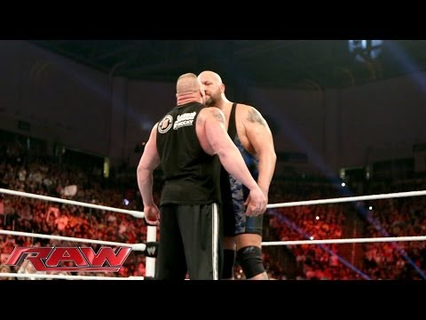 Big Show And Brock Lesnar Come Face-to-face: Raw, Jan. 20, 2014 video
