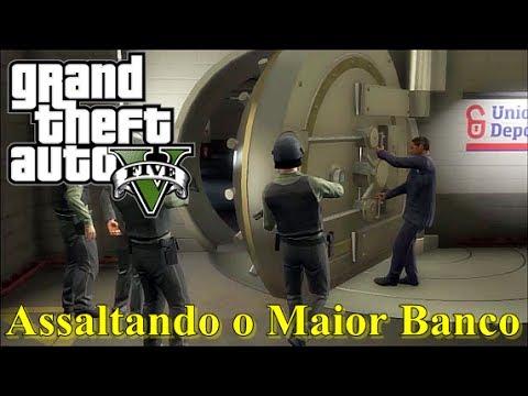 GTA 5 Roubando o Maior Banco do Jogo. O Grande Golpe