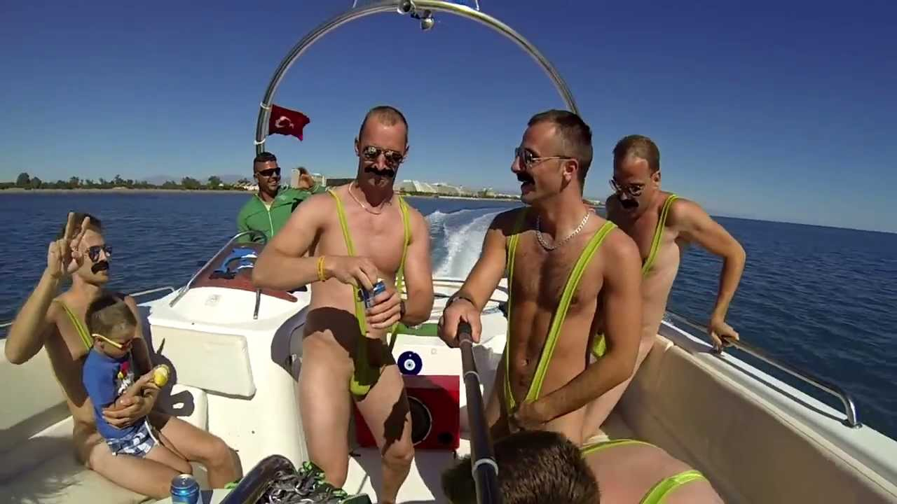Borat mankini in Turkey - YouTube