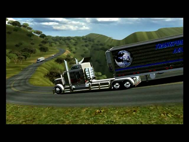 18 WOS HAULIN KENWORTH W900L LARGE CAR AND EXHAUST STRAIGHT