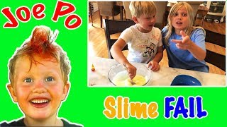 Slime Making FAIL - Family Fun Day with JoePo