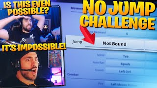 Can We Win Without JUMPING?! - Fortnite Challenge ft. Nickmercs (Fortnite Battle Royale)