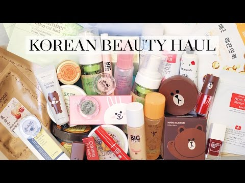 Huge Korean Makeup and Skincare Haul   LookMazing