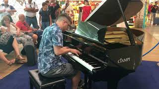 Playing Piano In A Roman Airport