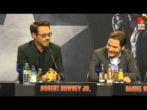 Captain America Team Iron Man | full Berlin press conference (2016)