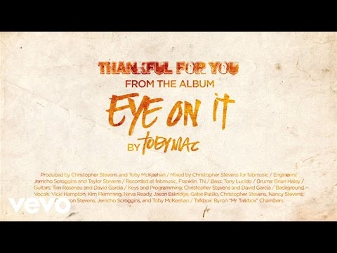 Tobymac - Thankful For You (lyrics) video