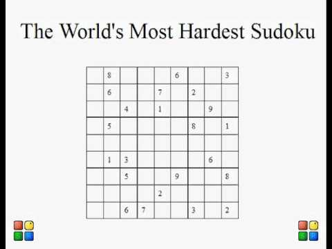 image regarding Difficult Sudoku Printable named utmost unattainable sudoku Children Actions
