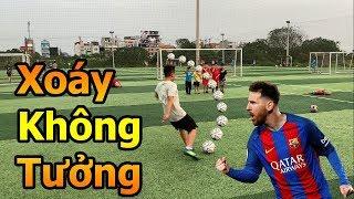 Thử Thách Bóng Đá sút phạt xoáy như Messi Quang Hải Nhí trổ tài làm thủ môn đấu Đỗ Kim Phúc