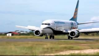 Merpati Nusantara Airlines PK-MBP landing at Domine Eduard Osok Airport in Sorong