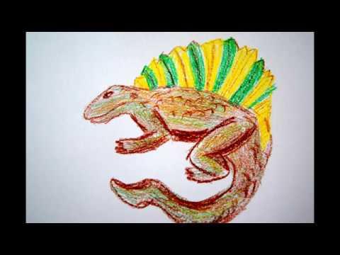 Dinos zeichnen lernen Tiere malen Dinosaurier