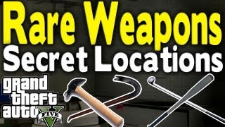 Game | GTA 5 ALL SECRET RARE MELEE WEAPON LOCATIONS Bat, Golf Club, Hammer, Crowbar GTA V | GTA 5 ALL SECRET RARE MELEE WEAPON LOCATIONS Bat, Golf Club, Hammer, Crowbar GTA V