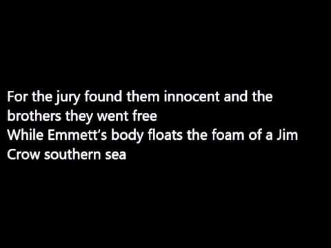 Bob Dylan - The Death of Emmett Till (lyrics)