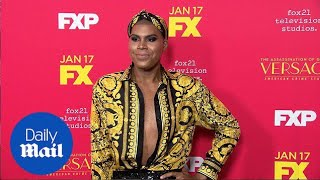 EJ Johnson dazzles in Versace for American Crime Story premiere - Daily Mail