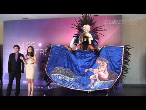 Presentación del vestuario de la representante de El Salvador para Miss Universo 2015