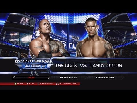 WWE 2K14 Dream Matches - The Rock vs. Randy Orton