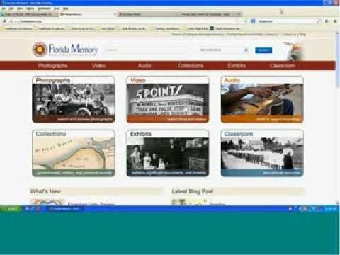 Florida Memory Webinar Series: Preparing for the 2013 14 Florida History Fair: September 9, 2013