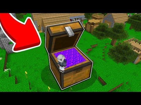 KÖYDE SANDIK İÇİNDE BİR PORTAL BULDUM! *tehlikeli* 😱 - Minecraft