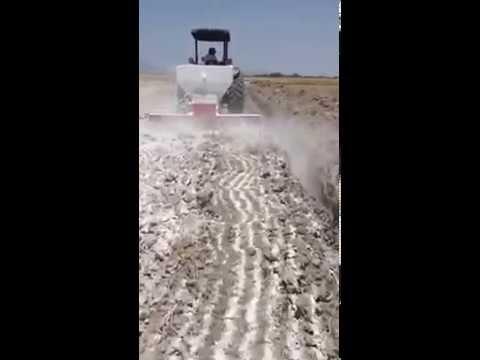 Aplicación en banda yeso agrícola 2