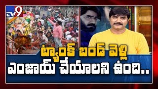 Chit Chat iSmart Sathi and Hero Srikanth : Ganesh Shobha yatra - TV9