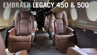 Embraer Debuts New Seat Design for Legacy 450 and 500 Business Jets AINtv