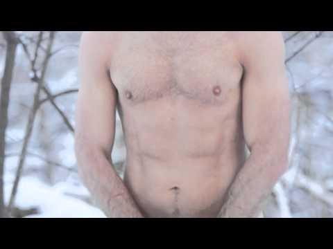 naken i snön