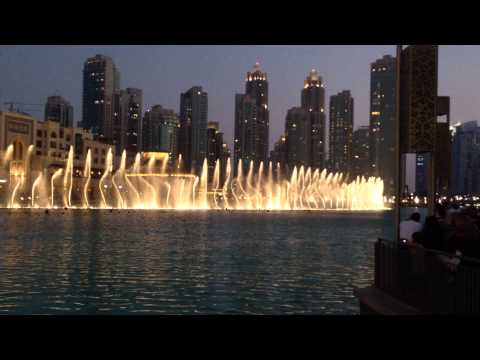 Dubai Fountains at Burj Khalifa Time to say goodbye by Andrea...