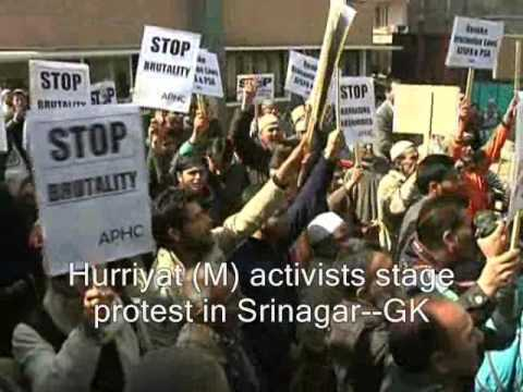Hurriyat (M) activists stage protest in Srinagar