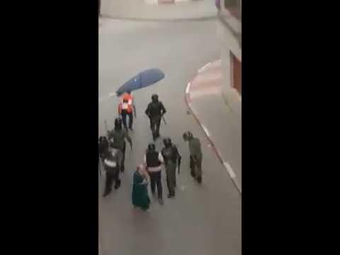 عنف مخزني وحشي في مواجهة احتجاجات الحسيمة السلمية يوم العيد