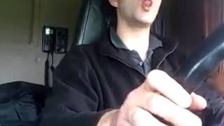 Crazy Truck Driver Imitating Scania V8 Sound