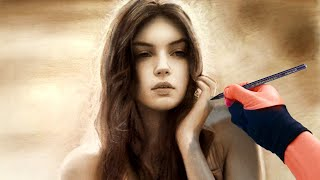 drawing gorgeous girl free portrait for my subscribers