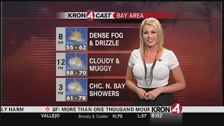 Weather Girl Predicts a Cold Front Moving In