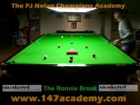 THE RONNIE BREAK - PJ NOLAN SNOOKER ACADEMY TRAINING ROUTINE