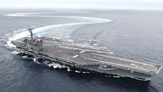 Aircraft Carrier Drifting & Doing Donuts – USS Abraham Lincoln EXTREME High-Speed Turns