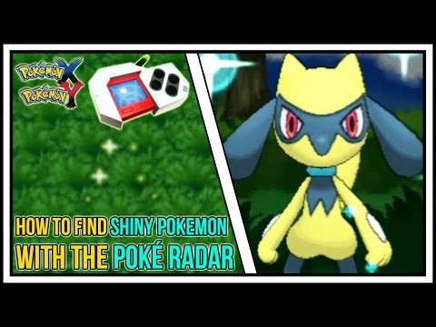 How To Find Shiny Pokemon Using The Pokeradar in Pokemon X and Y | Poké Radar Guide