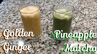 How To Make The New Iced Golden Ginger and Pineapple Matcha Starbucks Drinks By an Ex Barista