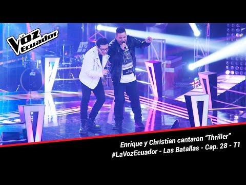 """Enrique y Christian cantaron """"Thriller"""" - La Voz Ecuador - Batallas - Cap. 28 - T1"""