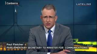 Paul Fletcher MP on ABC Lateline discussing distance education and the NBN Satellite 12/8/15