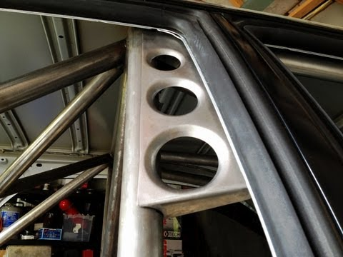 WRX Wagon - Custom Roll Cage - Making a dimple die gusset.