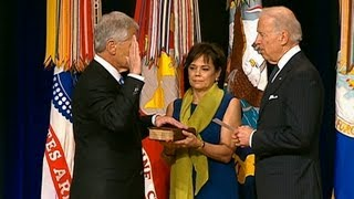 Vice President Biden, Speaks at a Ceremonial Swearing in for Secretary Chuck Hagel