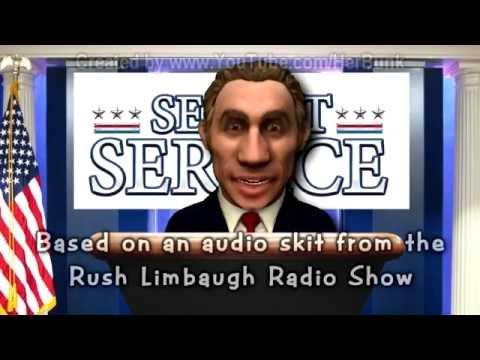 Obama Defends the Secret Service (Rush Limbaugh satire)