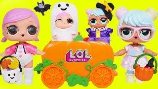 LOL Surprise Dolls Lil Sisters in Pumpkin Car