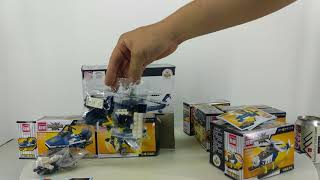 Mở hộp Enlighten 1801 Lego Military Army MOC Storm Armed Helicopter giá sốc rẻ nhất