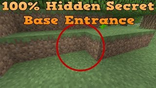 Minecraft - How to Make a 100% Hidden Secret Base Entrance tutorial!!! Xbox ONE PS4 & Wii U