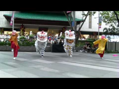 Hip-hop Singapore lion dance at ION Orchard