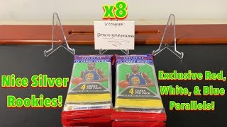 2018-19 Panini Prizm Basketball Retail Cello/Rack/Hanger Pack Break x8 - Nice Silver Rookies!