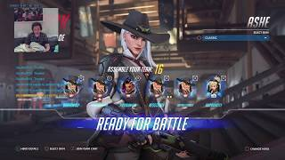 Overwatch NEW HERO ASHE 1st Time letsplay LIVE