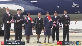 BritishAirways 'Retro' liveried jumbo jet Negus arrival at London Heathrow LIVE! BA100