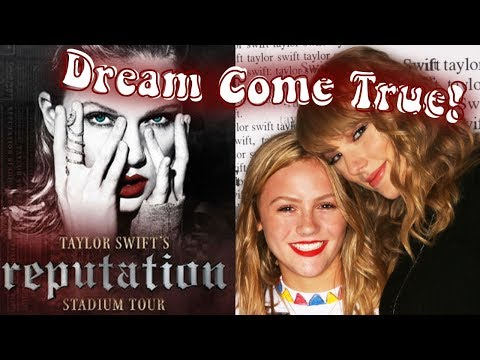 Taylor Swift Concert Vlog,  Ft. TAYLOR FREAKIN' SWIFT! (I got to meet her!!) | TILLY BEE